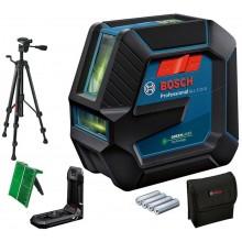 BOSCH GLL 2-15 G Čárový laser, 4x baterie 1,5 AA + Stativ BT 150, 0601063W01