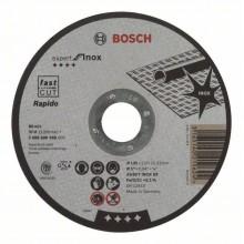 BOSCH Expert for Inox Rapido Dělicí kotouč rovný, 125 mm, 1,0 mm 2608600549