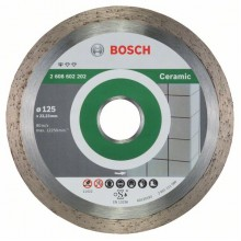 BOSCH Standard for Ceramic Diamantový dělicí kotouč, 125 x 22,23 x 1,6 x 7mm 2608602202