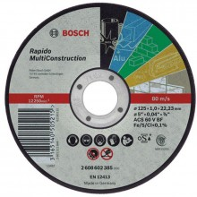 BOSCH Rapido Multi Construction Dělicí kotouč rovný, 125 mm, 1,0 mm 2608602385