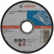 BOSCH Dělicí kotouč rovný Standard for Metal, 115x1,6 mm 2608603163