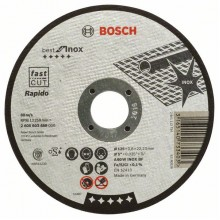 BOSCH Dělicí kotouč rovný Best for Inox – Rapido 125x0,8mm 2608603488