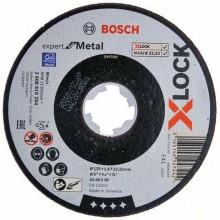 BOSCH X-LOCK Expert for Inox+Metal Plochý řezný kotouč, 125×1×22,23mm 2608619264