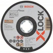 BOSCH Standard for Inox systému X-LOCK, Plochý řezný kotouč, 125×1×22,23 mm 2608619262