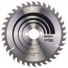 BOSCH Optiline Wood Pilový kotouč, 190x2,6/1,6 mm 2608640616