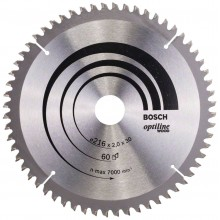 BOSCH Pilový kotouč Optiline Wood, 216x2,0/1,4 mm 2608640433