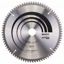 BOSCH Pilový kotouč Optiline Wood, 254x2,5/1,8 mm 2608640437