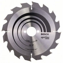 BOSCH Pilový kotouč Optiline Wood, 190x2,0/1,3 mm 16z, 2608641184