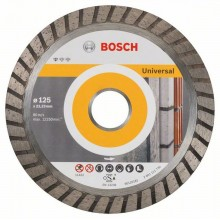 BOSCH Diamantový dělicí kotouč Standard for Universal Turbo, 125 mm 2608602394
