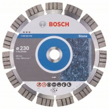 BOSCH Best for Stone Diamantový dělicí kotouč, 230 x 22,23 x 2,4 x 15 mm 2608602645