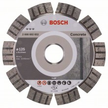 BOSCH Diamantový dělicí kotouč Best for Concrete, 125 mm 2608602652