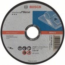 BOSCH Dělicí kotouč rovný Standard for Metal, 125x1,6 mm 2608603165