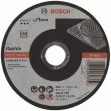 BOSCH Dělicí kotouč rovný Standard for Inox - Rapido, 125x1 mm 2608603171
