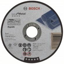 BOSCH Dělicí kotouč rovný Best for Metal – Rapido - A 60 W BF, 125 mm, 1,0 mm 2608603514