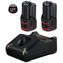 VÝPRODEJ BOSCH Akumulátor 2× GBA 12V 2.0Ah + nabíječka GAL 12V-40 1600A019R8 POŠKOZENÝ OBAL!!!!