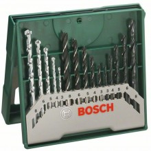 BOSCH 15dílná sada vrtáků Mini-X-Line mix 2607019675