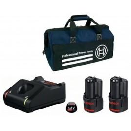 BOSCH Nabíječka GAL 12V-40 +Akumulátor 2 x GBA 2,0Ah +Taška 0615990L0W