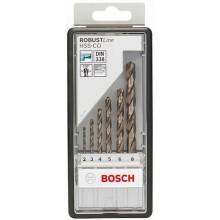 BOSCH Robust Line HSS-Co, 6dílná Sada vrtáků do kovu 2607019924