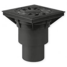 Kanalizační vpusť spodní D 160 (KVS160S-P+z) suchá, plast + zámek 328Pz