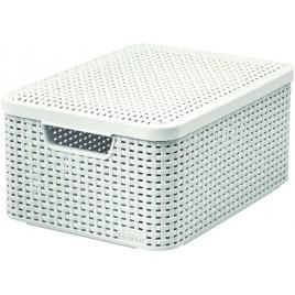 CURVER STYLE M úložný box s víkem 39,3 x 29,3 x 18,7 cm krémový 03618-885