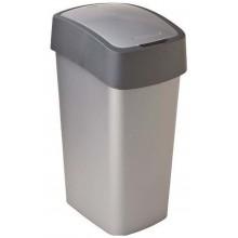 CURVER FLIPBIN 50l Odpadkový koš 65,3 x 29,4 x 37,6 cm stříbrná/šedá 02172-686