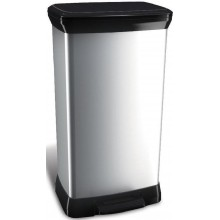 CURVER DECOBIN 50L odpadkový koš 39x29x73cm stříbrný 02162-582