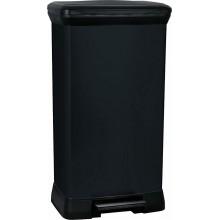 CURVER DECOBIN 50L odpadkový koš 39x29x73cm černý 02162-929