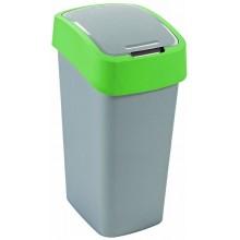 CURVER FLIPBIN 50l Odpadkový koš 65,3 x 29,4 x 37,6 cm stříbrná/zelená 02172-P80