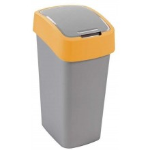 CURVER FLIPBIN 50l Odpadkový koš 65,3 x 29,4 x 37,6 cm stříbrná/žlutá 02172-535