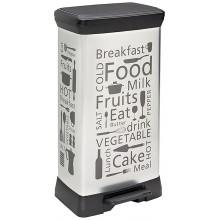 CURVER DECOBIN 50L odpadkový koš 39x29x73cm motiv kuchyně 02162-K07