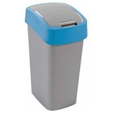 CURVER FLIPBIN 50l Odpadkový koš 65,3 x 29,4 x 37,6 cm stříbrná/modrá 02172-734