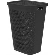 CURVER TERRAZZO 55L Koš na špinavé prádlo 45 x 34 x 58 cm černý 08094-B79