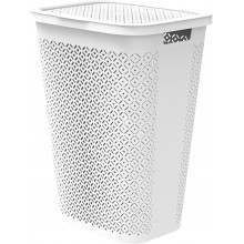CURVER TERRAZZO 55L Koš na špinavé prádlo 45 x 34 x 58 cm bílý 08094-W36
