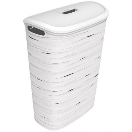 CURVER Koš na prádlo RIBBON, 46 x 27 x 59 cm, 49 l, bílý, 00746-X07