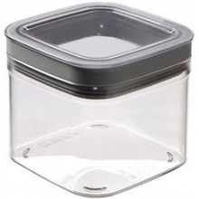 CURVER DRY CUBE 0,8L dóza 11,8x11,8x10cm transparent/šedá 00995-840