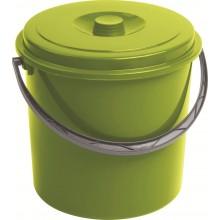 CURVER kbelík s víkem 16 l zelený 03208-114