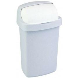 CURVER ROLL TOP Odpadkový koš 24x21,5x41,5cm 10l šedý 03974-856