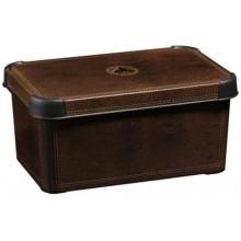 CURVER LEATHER S box úložný dekorativní 29,5 x 19,5 x 13,5 cm hnědý 04710-D12
