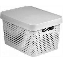 CURVER INFINITY 17L úložný box 36 x 22 x 27 cm bílý 04742-N23