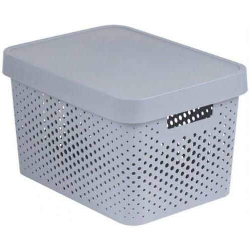 CURVER INFINITY 17L úložný box 36 x 22 x 27 cm šedý 04742-099