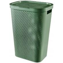CURVER INFINITY 59L Koš na špinavé prádlo, recyklovaný plast, zelený 04754-S86