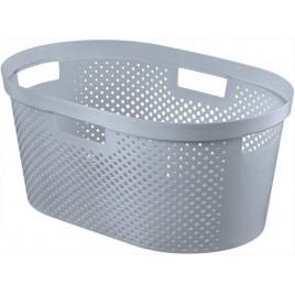CURVER INFINITY DOTS 39L koš na prádlo 58,5 x 26,5 x 38,5 cm šedý 04755-099