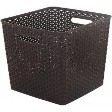 CURVER MY STYLE SQUARE 25L úložný box 32,5x32,5x28cm hnědý 03613-210