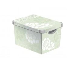VÝPRODEJ CURVER ROMANCE box úložný dekorativní L, 39,5 x 29,5 x 25cm,, 04711-D64 BEZ VÍKA