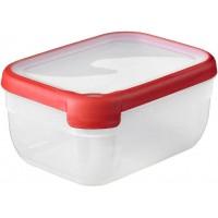 CURVER Dóza na potraviny GrandChef, 20 x 15 x 9,3 cm, 1,8 l, transparentní/červená, 07389-416