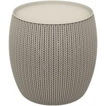 KETER KNIT stolek s úložným prostorem, 40,6 x 40,6 x 41,4 cm, písková 17203083
