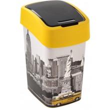 CURVER FLIPBIN NEW YORK 25l Odpadkový koš 47 x 26 x 34 cm žlutá/šedá 02171-N27