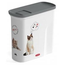 CURVER kontejner na suché krmivo 1kg/2L 20,6 x 19,3 x 8,7 cm kočka 04346-L30