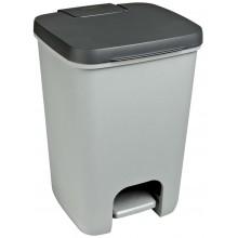 CURVER ESSENTIALS Odpadkový koš 20l, antracit/silver 00759-686