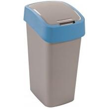 CURVER FLIPBIN 10l odpadkový koš 35 x 23,5 x 18,9 cm stříbrná/modrá 02170-734